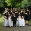 Wedding party - black and white
